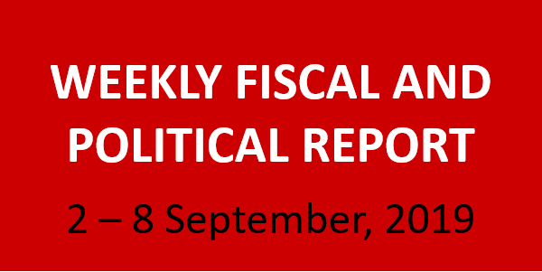 #36 Weekly Fiscal and Political Report, September 2 – 8, 2019
