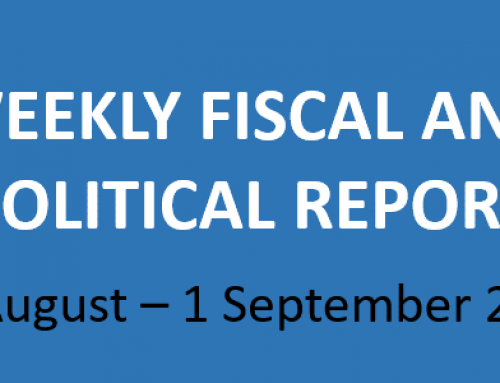 #35 Weekly Fiscal and Political Report August 26 – September 1, 2019