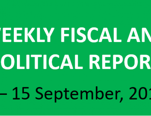 #37 Weekly Fiscal and Political Report, September 9 – 15, 2019