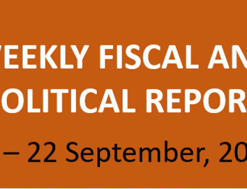 #38 Weekly Fiscal and Political Report, September 16-22, 2019