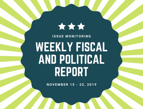 Weekly Fiscal and Political Report, November 15th – 22nd, 2019