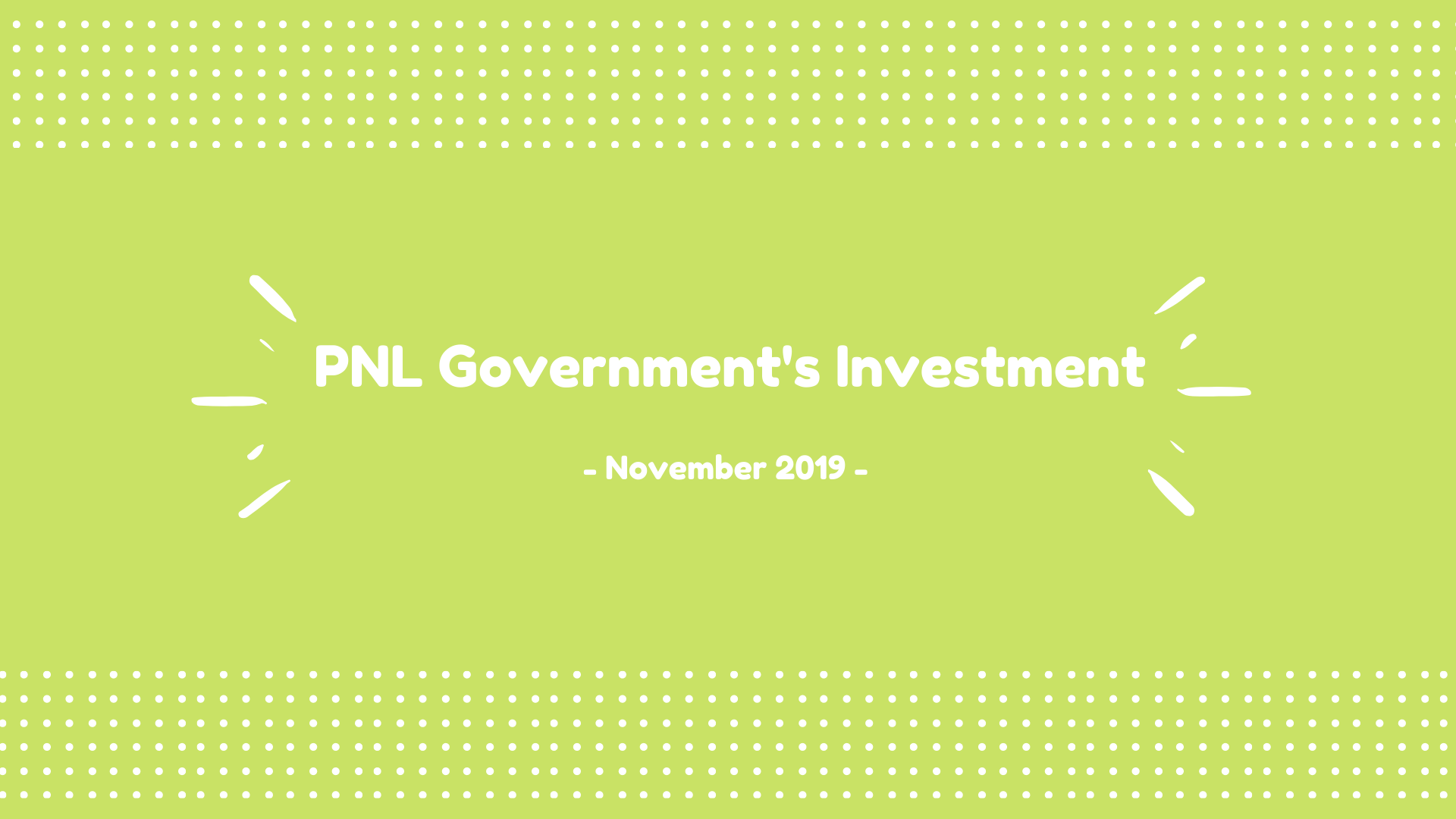 PNL Government's Investiment – November 2019