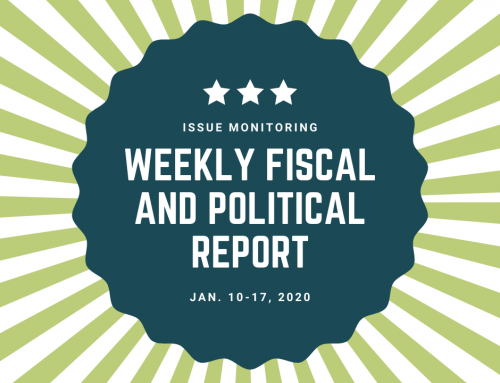 Weekly Fiscal and Political Report, Jan. 10th-17th, 2020