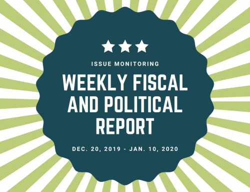Weekly Fiscal and Political Report, Dec. 20th, 2019 – Jan. 10th, 2020