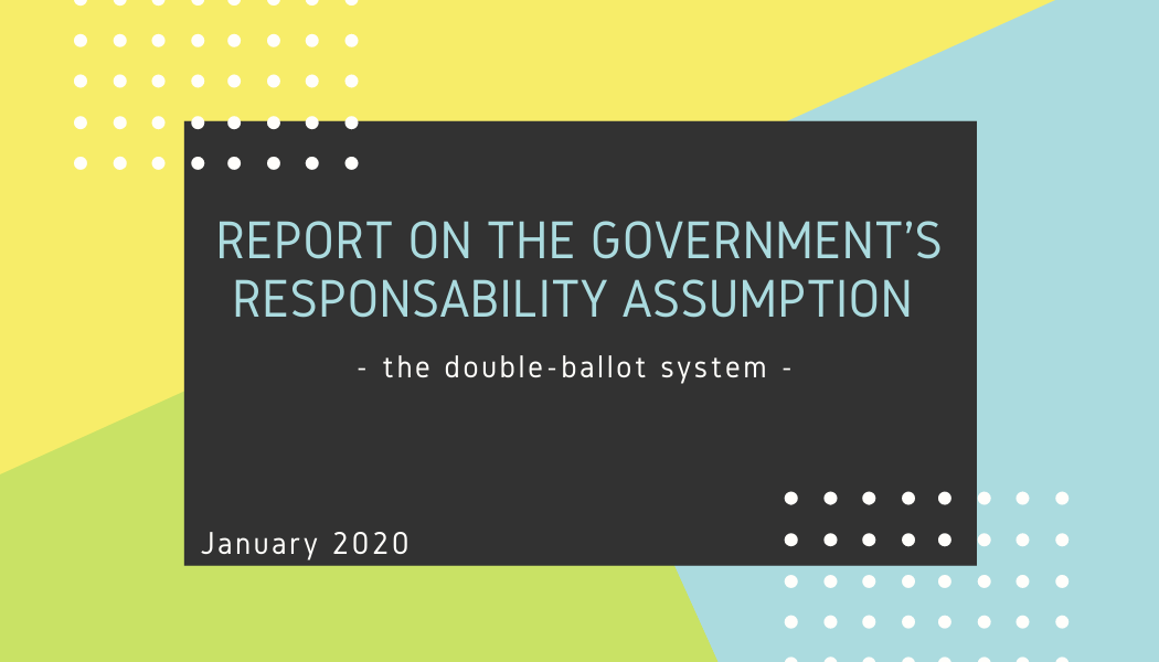 Special Report on the Government's responsibility assumption for the double-ballot system